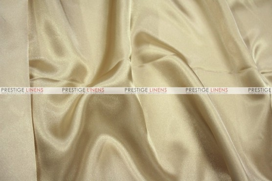 Charmeuse Satin Chair Cover - 130 Champagne