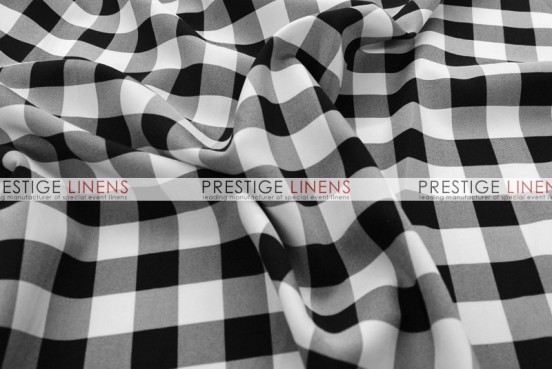 Gingham Buffalo Check Draping - Black