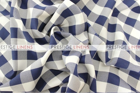 Gingham Buffalo Check Draping - Navy