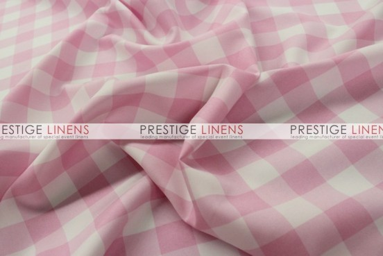 Gingham Buffalo Check Draping - Pink