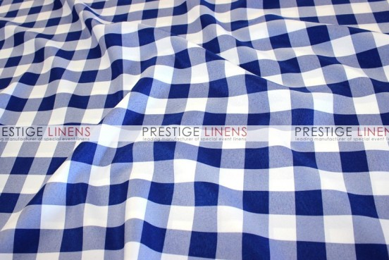 Gingham Buffalo Check Draping - Royal