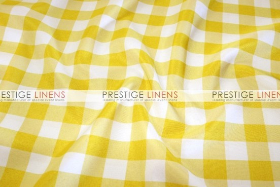 Gingham Buffalo Check Draping - Yellow