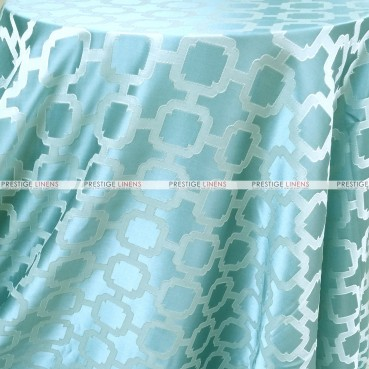 Nancy Graphic Table Linen - Surf Blue