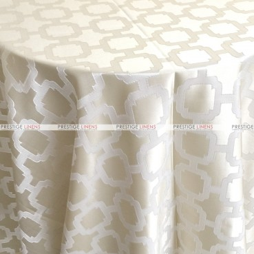 Nancy Graphic Table Linen - Ivory