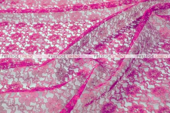 Rachelle Lace Table Linen - 529 Fuchsia