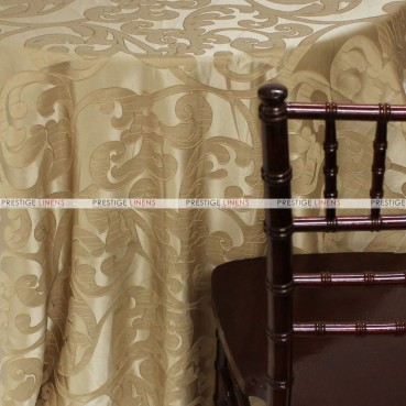 Victorian Damask Table Linen - Khaki