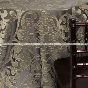 Victorian Damask Table Linen - Taupe