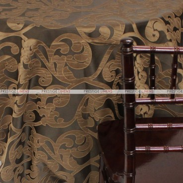 Victorian Damask Table Linen - Chocolate