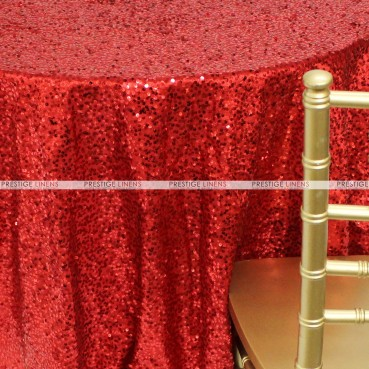 Taffeta Sequins Embroidery Table Linen - Red