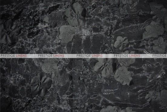 Applique Organza - Fabric by the yard - Black