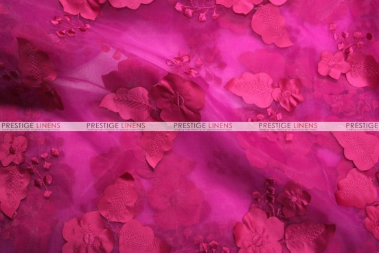 Applique Organza - Fabric by the yard - Fuchsia