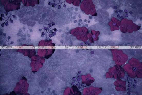 Applique Organza - Fabric by the yard - Plum