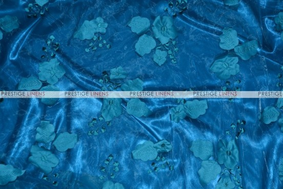 Applique Organza - Fabric by the yard - Teal