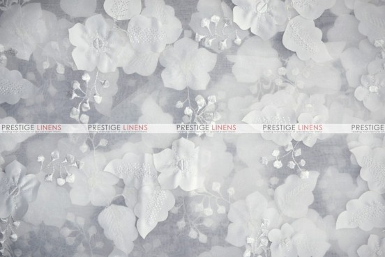 Applique Organza - Fabric by the yard - White