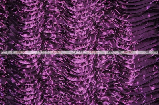 Austrian Wave Satin - Fabric by the yard - Plum