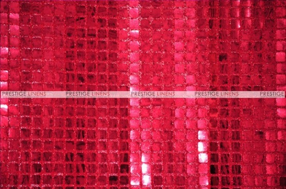 Boxed Sequins - Fabric by the yard - Red