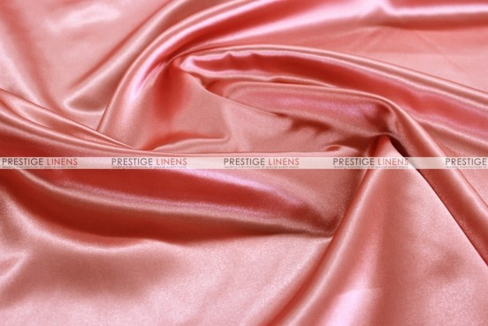 Bridal Satin - Fabric by the yard - 432 Coral