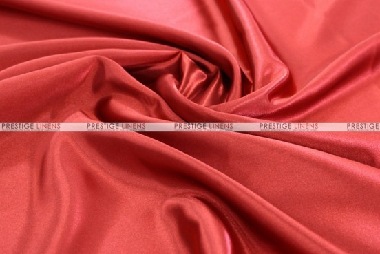 Bridal Satin - Fabric by the yard - 626 Red