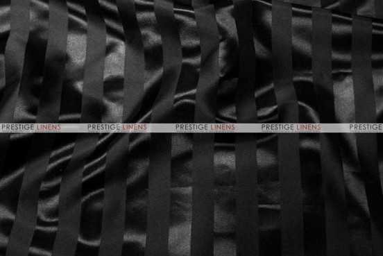 Bridal Satin Stripe - Fabric by the yard - Black