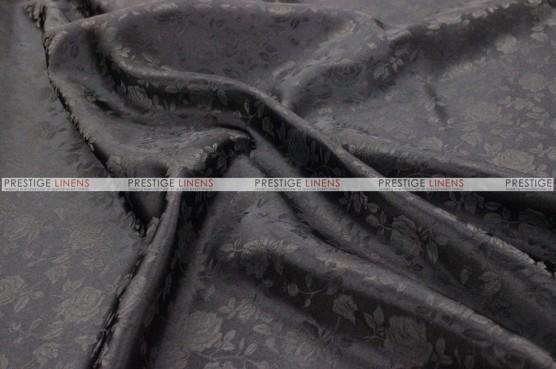 Brocade Satin - Fabric by the yard - Black