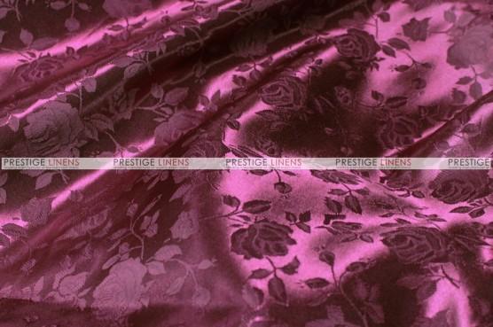 Brocade Satin - Fabric by the yard - Burgundy