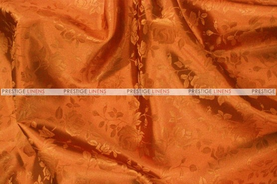 Brocade Satin - Fabric by the yard - Cinnamon