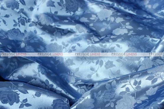Brocade Satin - Fabric by the yard - Copen