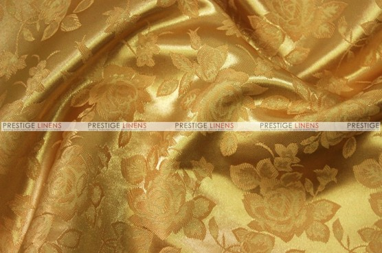 Brocade Satin - Fabric by the yard - Dk Gold