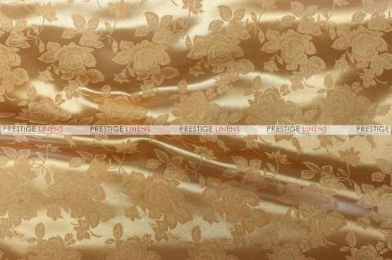 Brocade Satin - Fabric by the yard - Gold