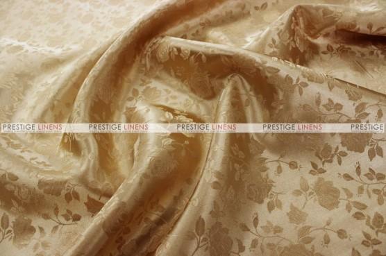 Brocade Satin - Fabric by the yard - Khaki