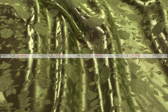 Brocade Satin - Fabric by the yard - Olive