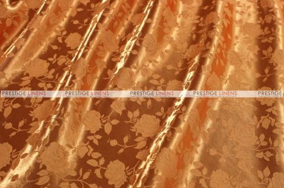 Brocade Satin - Fabric by the yard - Orange