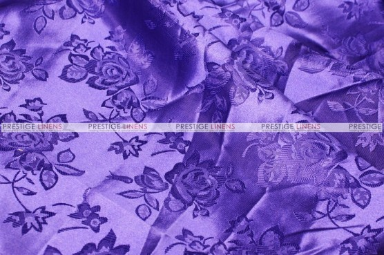 Brocade Satin - Fabric by the yard - Purple