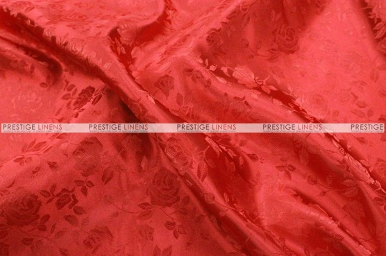 Brocade Satin - Fabric by the yard - Red