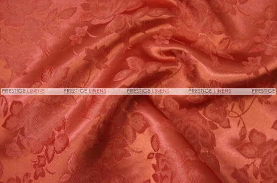 Brocade Satin - Fabric by the yard - Rust