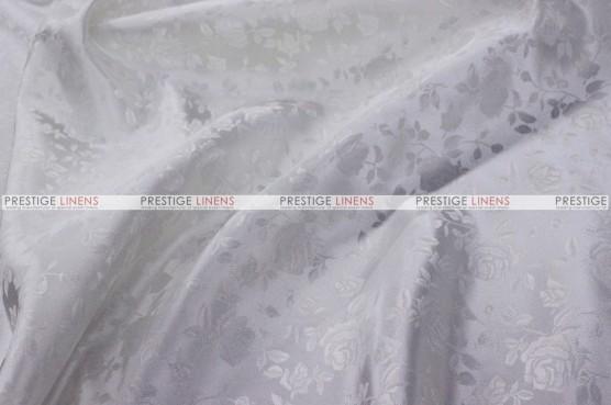 Brocade Satin - Fabric by the yard - White