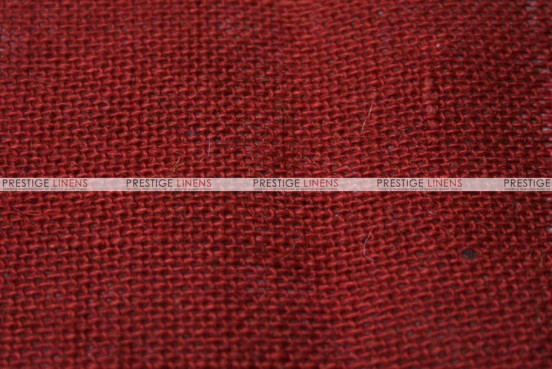 Burlap - Fabric by the yard - Red