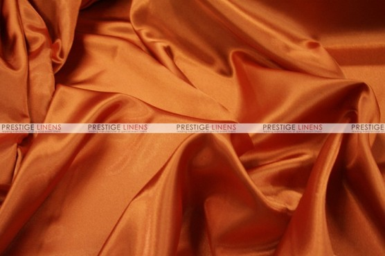 Charmeuse Satin - Fabric by the yard - 447 Dk Orange