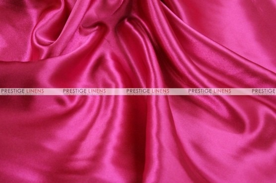 Charmeuse Satin - Fabric by the yard - 528 Hot Pink