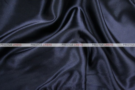 Charmeuse Satin - Fabric by the yard - 934 Navy