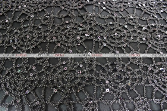 Chemical Lace - Fabric by the yard - Black