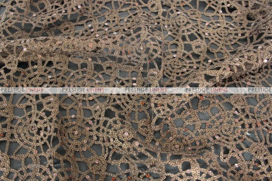 Chemical Lace - Fabric by the yard - Brown