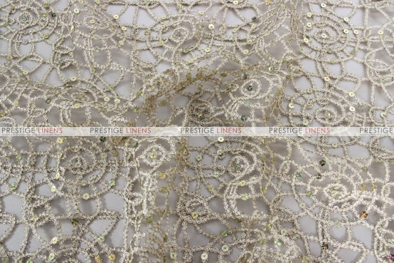 Chemical Lace - Fabric by the yard - Champagne