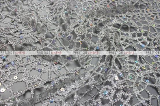 Chemical Lace - Fabric by the yard - Silver