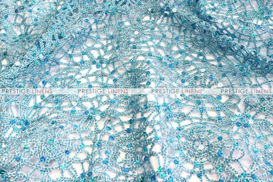 Chemical Lace - Fabric by the yard - Turquoise