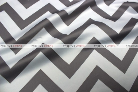 Chevron Print Lamour - Fabric by the yard - Grey
