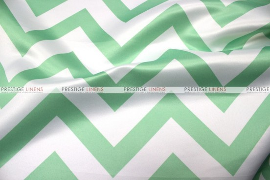Chevron Print Lamour - Fabric by the yard - Mint
