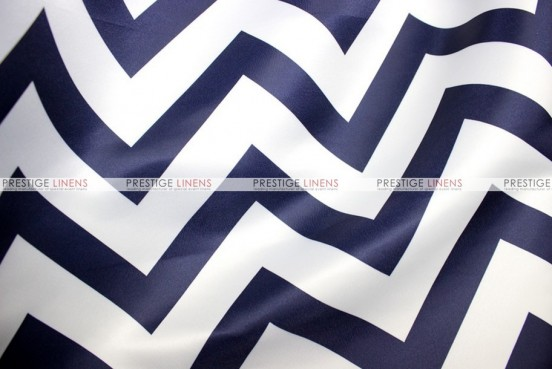 Chevron Print Lamour - Fabric by the yard - Navy