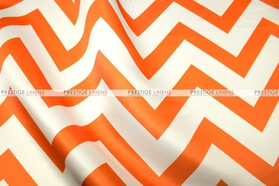 Chevron Print Lamour - Fabric by the yard - Orange