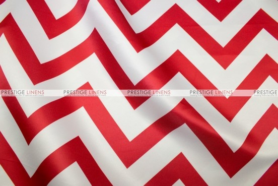 Chevron Print Lamour - Fabric by the yard - Red